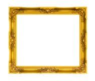 Houten omlijsting op geïsoleerde wit Royalty-vrije Stock Foto