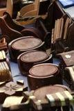 Houten onderleggers voor glazen Royalty-vrije Stock Afbeeldingen