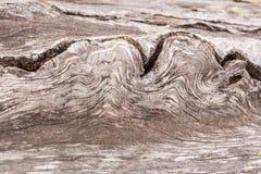 Houten ongebruikelijke textuur Close-up golvend patroon van vezel van oude wo Stock Fotografie