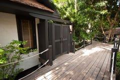 Houten ontwerpplaats episch Thailand Stock Fotografie