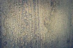 Houten oppervlakte met kleur van de schil de groene verf Stock Foto's