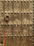 Houten oppervlakte van een deur Stock Afbeeldingen