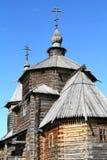 Houten orthodoxe architectuur Royalty-vrije Stock Fotografie