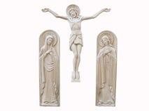 Houten orthodoxe geïsoleerdee godsdienst bas-hulp stock fotografie