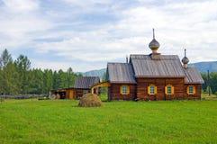 Houten orthodoxe kerk Royalty-vrije Stock Fotografie
