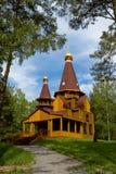 Houten Orthodoxe kerk. Royalty-vrije Stock Fotografie