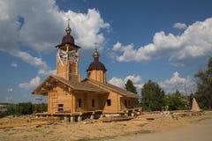 Houten Orthodoxe Kerk Royalty-vrije Stock Afbeeldingen