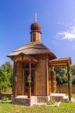 Houten Orthodoxe Kerk Royalty-vrije Stock Afbeelding
