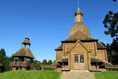 Houten Orthodoxe Kerk Stock Fotografie