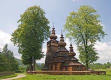 Houten Orthodoxe Kerk in Polen Royalty-vrije Stock Afbeelding