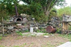 Houten oven stock afbeelding