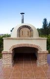 Houten oven royalty-vrije stock afbeeldingen