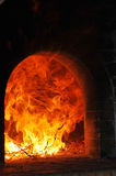 Houten oven Royalty-vrije Stock Foto's