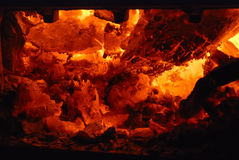 Houten oven royalty-vrije stock foto