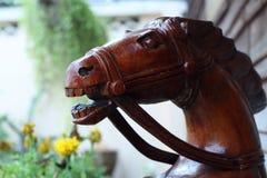 Houten paard Stock Fotografie