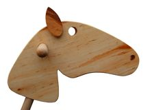 Houten paardhoofd Royalty-vrije Stock Foto's