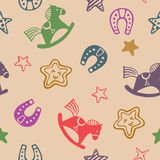 Houten paardpatroon Royalty-vrije Stock Afbeeldingen