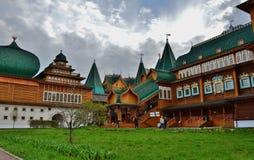 Houten paleis in Kolomenskoye Royalty-vrije Stock Fotografie