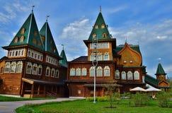 Houten paleis in Kolomenskoye Stock Foto's