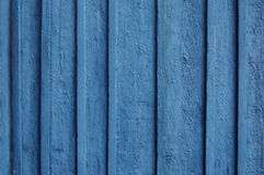 Houten Palissadeachtergrond, blauwe verf Royalty-vrije Stock Foto