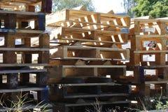 Houten pallets Royalty-vrije Stock Foto's