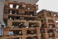 Houten pallets Stock Afbeelding