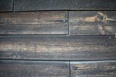 Houten paneel uitstekende muur stock foto