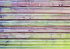 Houten paneelomheining Stock Foto