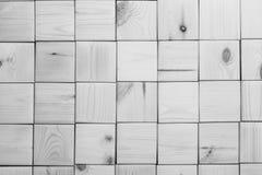 Houten panetls textire achtergrond Vierkante panelen op muur royalty-vrije stock afbeeldingen