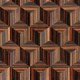 Houten parketblokken - naadloze achtergrond - Ebbehouten hout stock illustratie