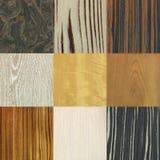 houten patronencollage Royalty-vrije Stock Foto