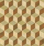 Houten patroon naadloze textuur Stock Afbeelding
