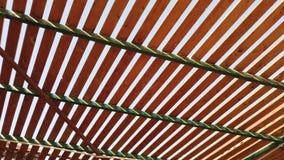 Houten patroon van het plafond stock video