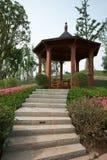 Houten paviljoen in park Royalty-vrije Stock Afbeelding