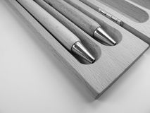 Houten pennen op geïsoleerde achtergrond Royalty-vrije Stock Afbeeldingen