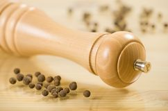 Houten peppermill royalty-vrije stock foto