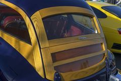 Houten perfectie - Packard Woody Wagon royalty-vrije stock afbeeldingen