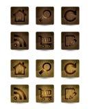 Houten pictogram Royalty-vrije Stock Afbeelding