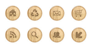 Houten pictogrammen stock illustratie