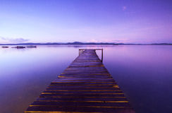 Houten pier Stock Foto