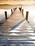 Houten pier (75) Stock Afbeeldingen