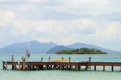 Houten pier over het overzees Royalty-vrije Stock Foto
