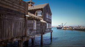 Houten pijler-huis in Californië Stock Foto's