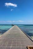 Houten pijler Key West royalty-vrije stock afbeeldingen
