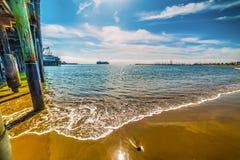 Houten pijler in Santa Barbara royalty-vrije stock fotografie