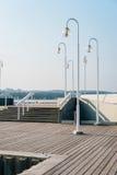 Houten pijler in Sopot Royalty-vrije Stock Afbeeldingen