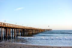 Houten Pijler in Ventura, CA stock fotografie