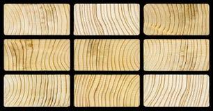 Houten pijnboomtextuur Stock Afbeelding