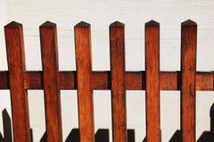 Houten piketomheining Stock Afbeelding