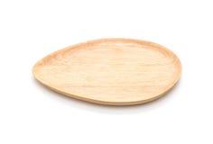 houten plaat op wit Stock Foto's